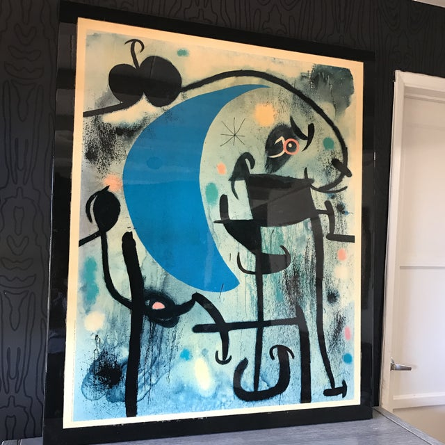 Joan Miro 1980's Lacquer Mounted Italian Poster - Image 2 of 10