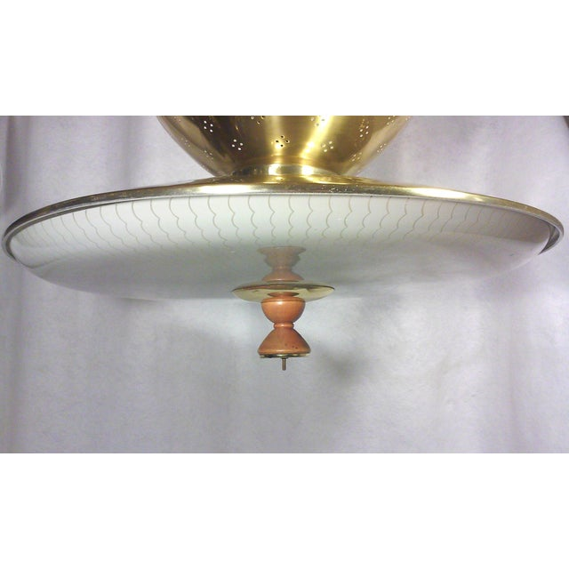 Gerald Thurston Retractable Brass Chandelier For Sale - Image 5 of 5