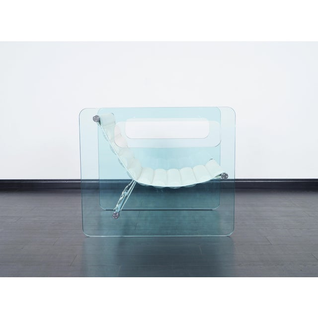 "Danish Modern ""Naked"" Glass Lounge Chair by Giovanni Tommaso For Sale - Image 3 of 7"
