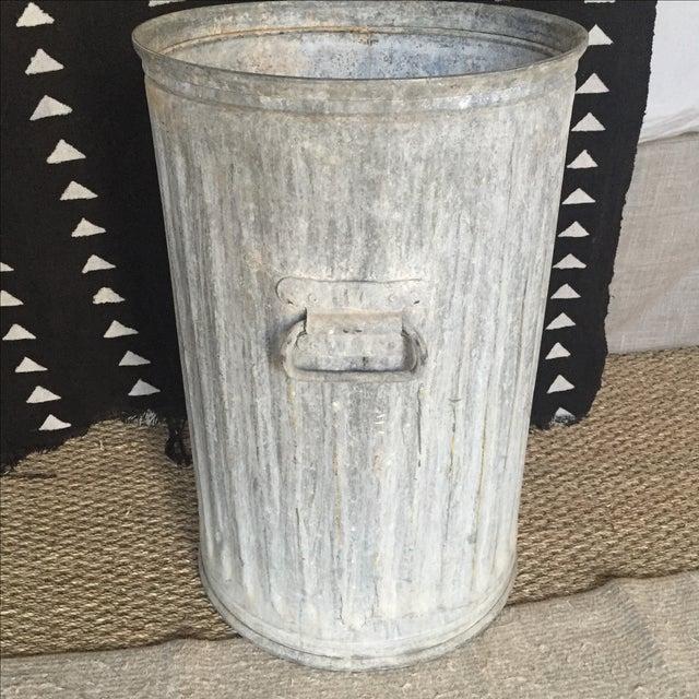 Vintage Galvanized Metal Barrel Bucket - Image 5 of 9