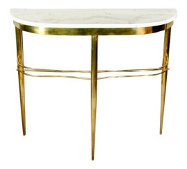 Image of Brass Demi-lune Tables