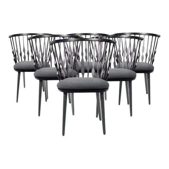 Patricia Urquiola Nub Armchairs - Set of 6 For Sale