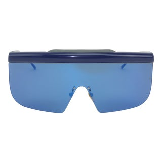 Jacques Marie Mage 'Connie' Space Age Blue Sunglasses For Sale