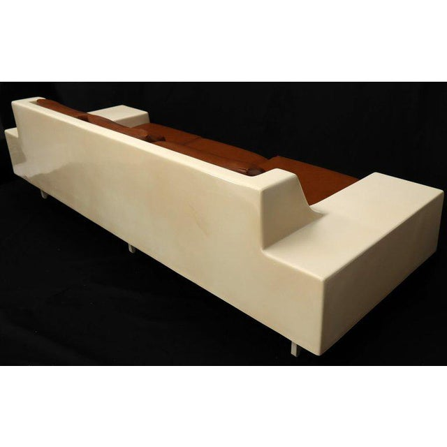 1960s Mid-Century Modern 3-Seat Fiberglass Sofa With End Tables For Sale - Image 5 of 13