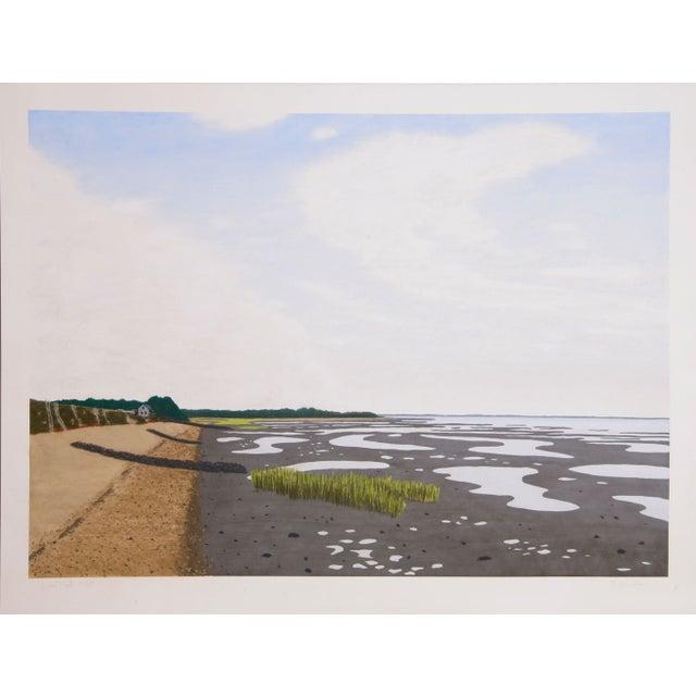 Bill Sullivan - Low Tide 7 Hand Colored Lithograph For Sale