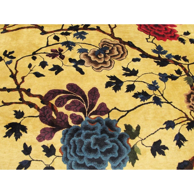 """Antique Chinese Art Deco Rug-8' X 9'8"""" For Sale In Chicago - Image 6 of 11"""