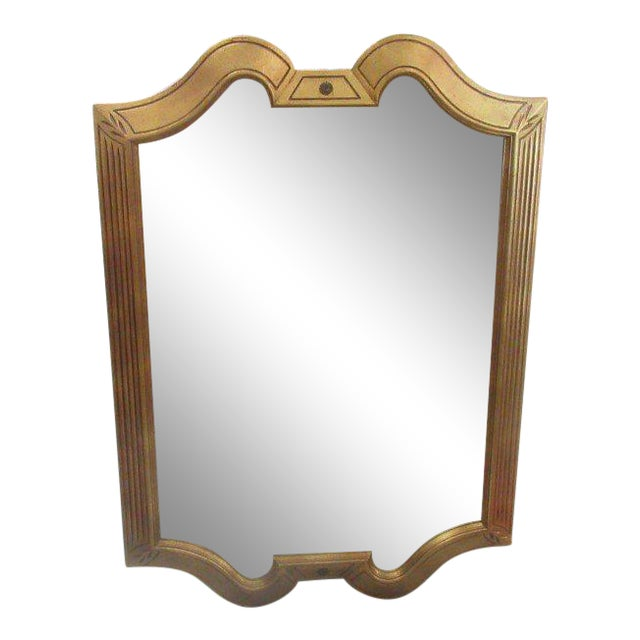 Gold Gilt Hollywood Regency Mirror - Image 1 of 7
