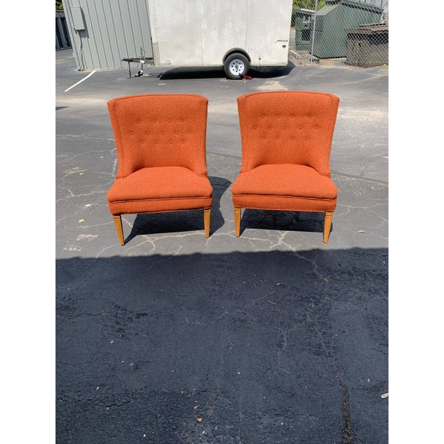 Vintage Mid Century Tweed Lounge Chairs- a Pair For Sale In Charleston - Image 6 of 6