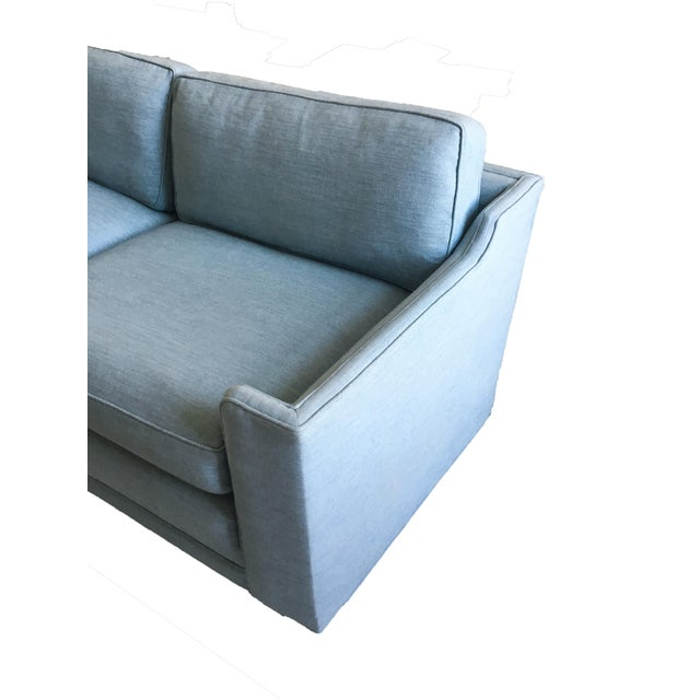 Mid-Century Modern Vintage Mid-Century Erwin Lambeth Linen Sofa For Sale - Image 3 of 6
