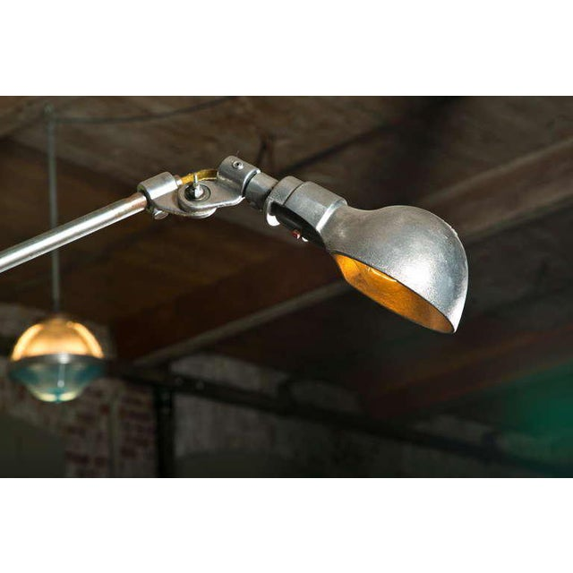 Silver Woodward Machine Light For Sale - Image 8 of 10