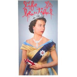 "Mr. Brainwash "" Life Is Beautiful Queen Elizabeth "" Original Lithograph Print Pop Art Poster"
