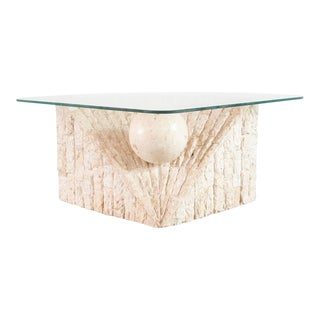 20th Century Modern Magnussen Ponte Stone Coffee Table For Sale