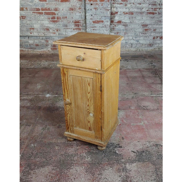 Antique Pine Cabinet Stand For Sale - Image 10 of 10