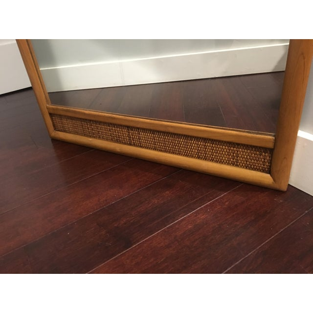Goldenrod French Indochine Style Mid Century Pier / Console Mirror (4 Ft) For Sale - Image 8 of 12