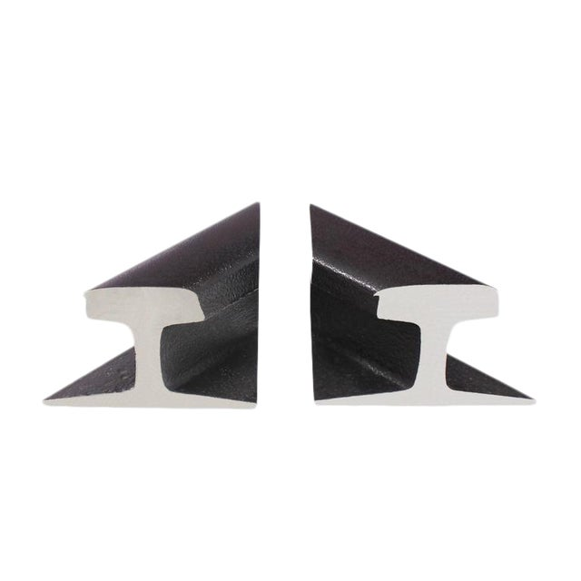 Pair of Rail Road Sections Bookends For Sale
