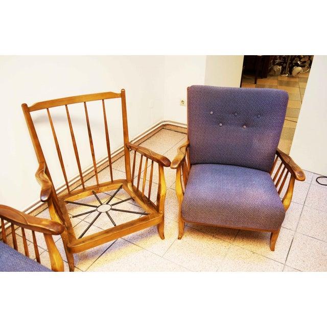 Purple living room set by Hans Wölfl - Set of 3 For Sale - Image 9 of 10