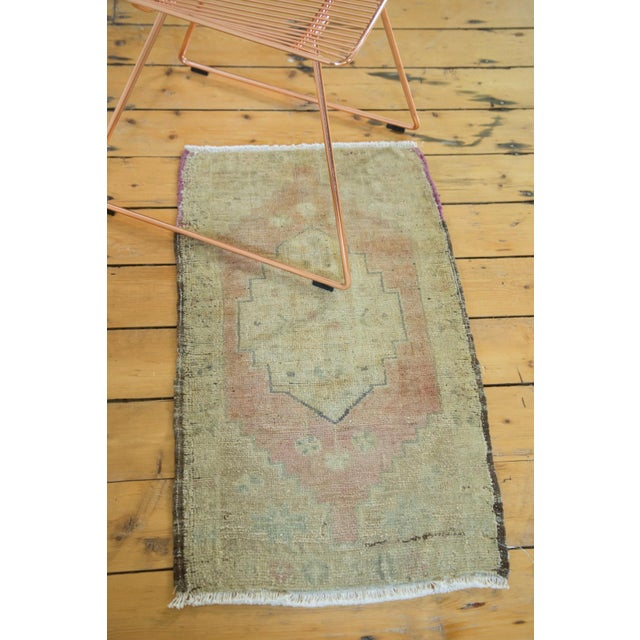 "Vintage Turkish Oushak Runner - 1'8"" x 2'11"" - Image 4 of 7"