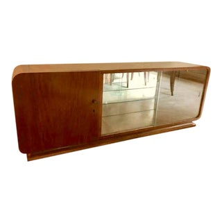 Art Deco Mahogany and Glass Cabinet For Sale