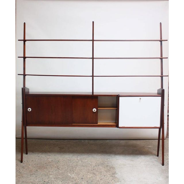 Mid-Century, Italian Modern Freestanding Wall Unit - Image 4 of 10