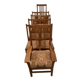 Stickley Spindle Arm Chair and Dining Chairs- Set of 10 For Sale