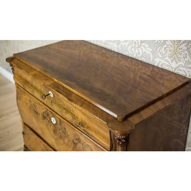 Brown 19th-Century Louis Philippe Dresser Veneered with Mahogany For Sale - Image 8 of 11