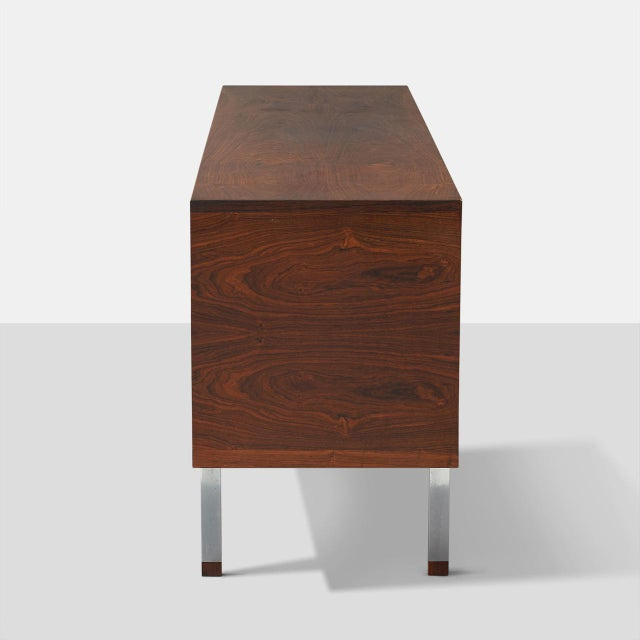 Mid-Century Modern Hans Wegner Rosewood Credenza For Sale - Image 3 of 9