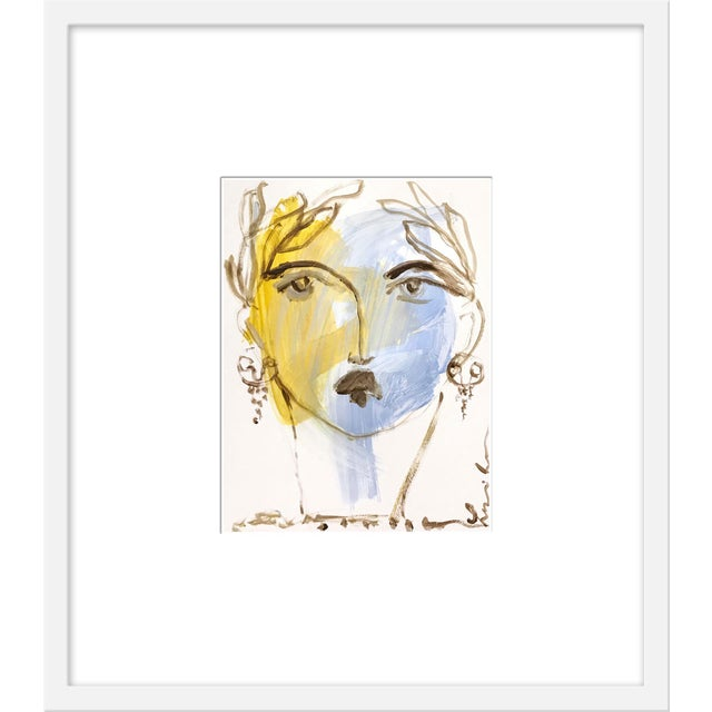 "Contemporary Medium ""Roman Face Ii"" Print by Leslie Weaver, 21"" X 24"" For Sale - Image 3 of 3"