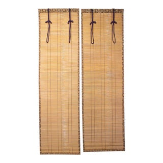 Sudare Split Bamboo Blinds - a Pair For Sale