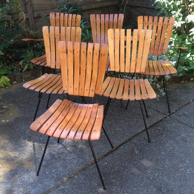 1950s Vintage Umanoff Slat Dining Chairs- Set of 6 For Sale - Image 13 of 13