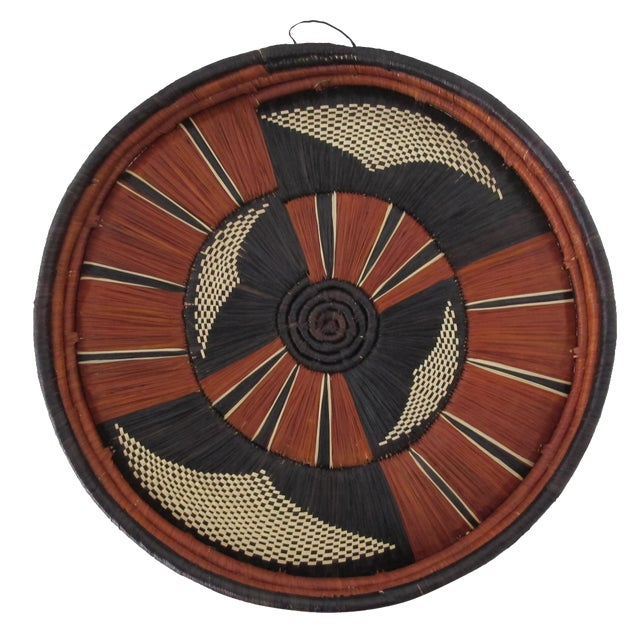 African Reed Basket - Image 1 of 3