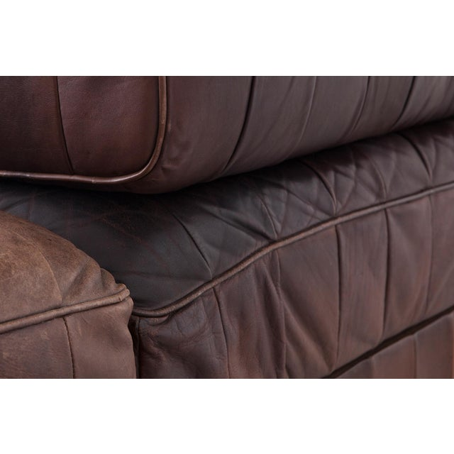 Leather De Sede Ds88 Modular Brown-Cognac Leather Patchwork Sofa For Sale - Image 7 of 8