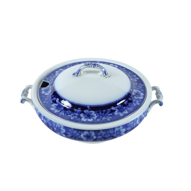 Flow Blue Turin by JB, Tureen With Lid - Image 3 of 5