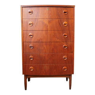 Original Danish High Boy Teak Dresser - Niels