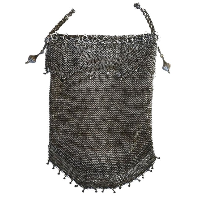 .925 Sterling Silver Mesh Evening Bag Purse - Image 1 of 7