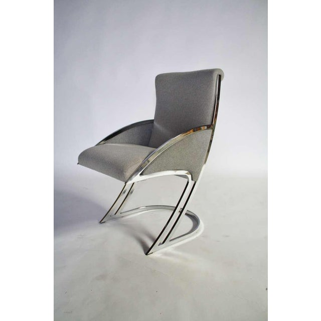 Chrome Set of Four Chrome Dining Chairs For Sale - Image 7 of 9