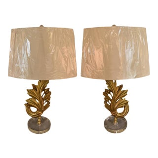 19th Century French Fragment Silk-Shade Lamps - A Pair