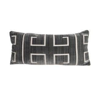 Athens Velvet Silver Pillow - 12 X 22 For Sale