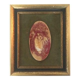 Vintage American Resin Intaglio, Framed