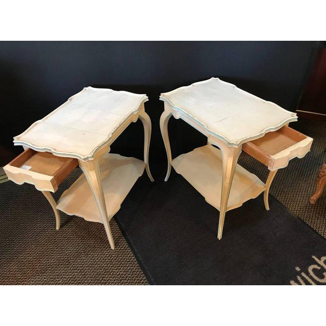 Distressed Paint Decorated Maison Jansen Side Tables or Night Tables - a Pair For Sale - Image 4 of 12