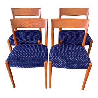 Set of 4 Swedish Modern Teak Dining Chairs by Svegards For Sale