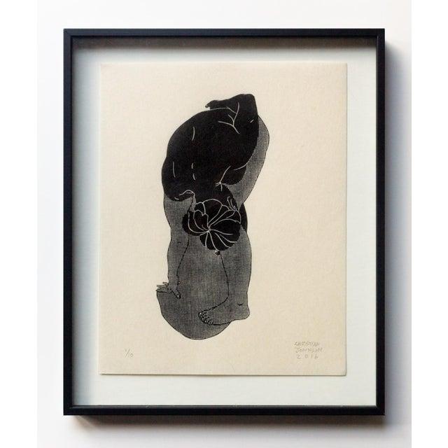 Christian Johnson Untitled, 2016 Linocut Print For Sale - Image 4 of 4