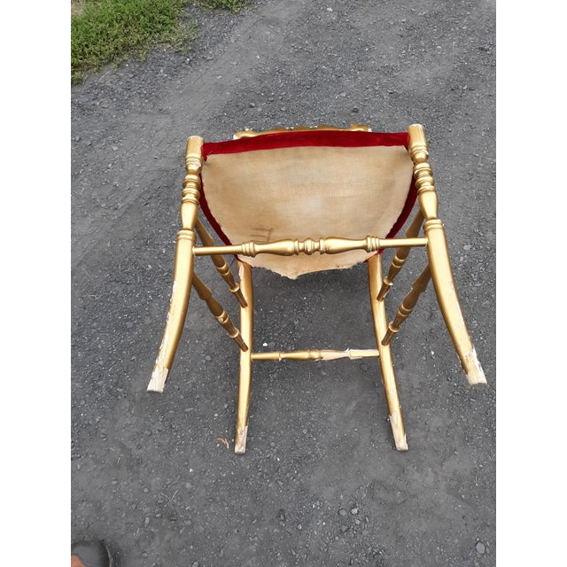 Vintage Italian Chiavari Chair in Gold Over Wood For Sale - Image 10 of 12