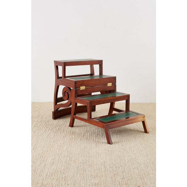 English Regency Style Mahogany Metamorphic Library Step Chair For Sale - Image 4 of 13