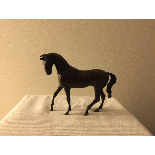 Bronze Colored Metal Horse Statue - Image 3 of 7