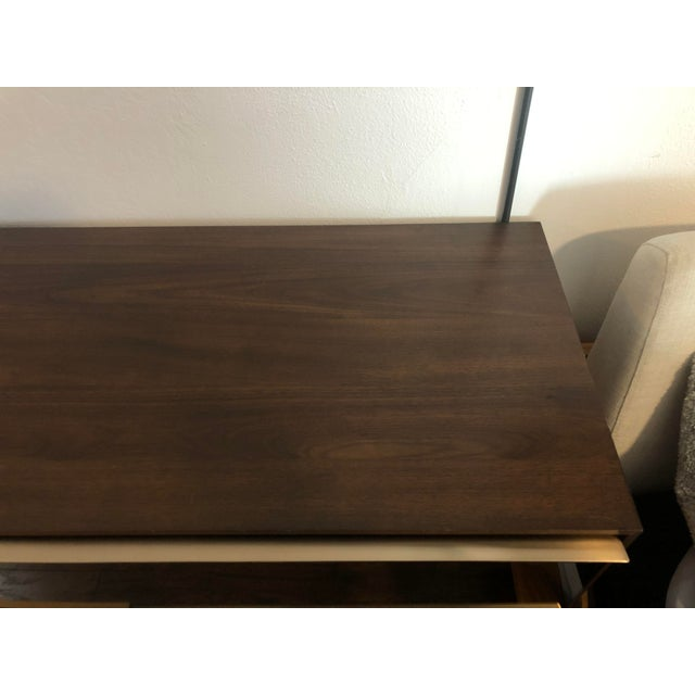 Metal West Elm Nouveau Walnut Mid Century 6 Drawer Dresser For Sale - Image 7 of 9