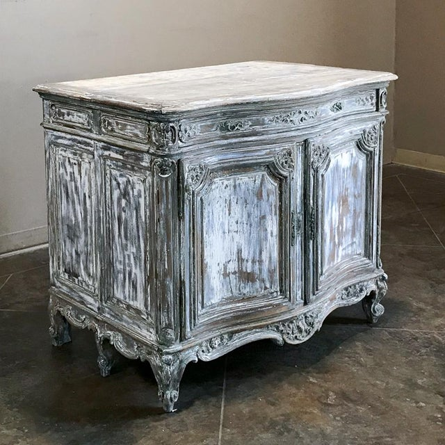 19th Century French Regence Whitewashed Commode For Sale - Image 13 of 13