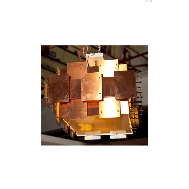 Robert Sonneman Robert Sonneman Copper Chandelier For Sale - Image 4 of 8