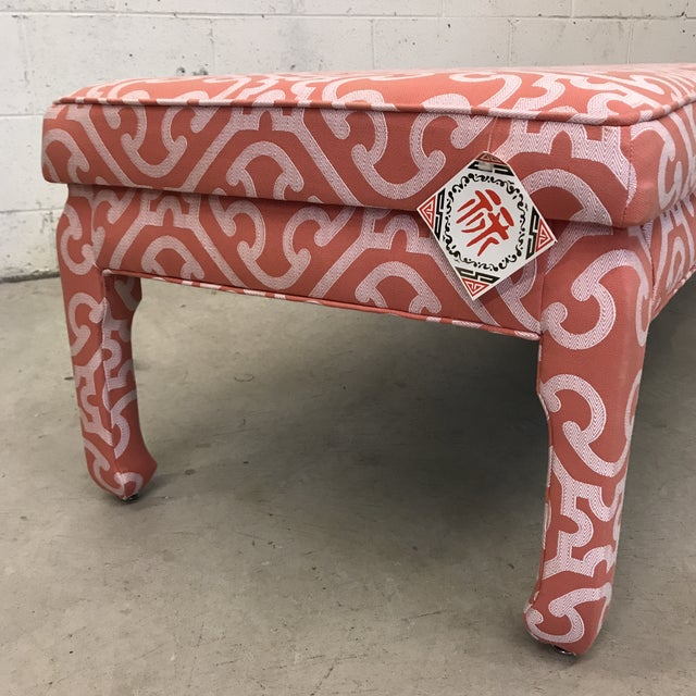 Ming Style Bench in Scalamandre Fabric For Sale In Richmond - Image 6 of 12