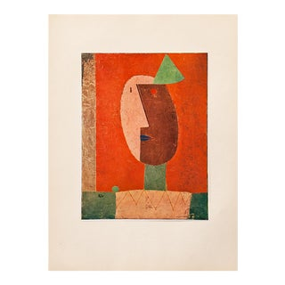 "1955 Paul Klee ""Clown"" First Edition Lithograph For Sale"