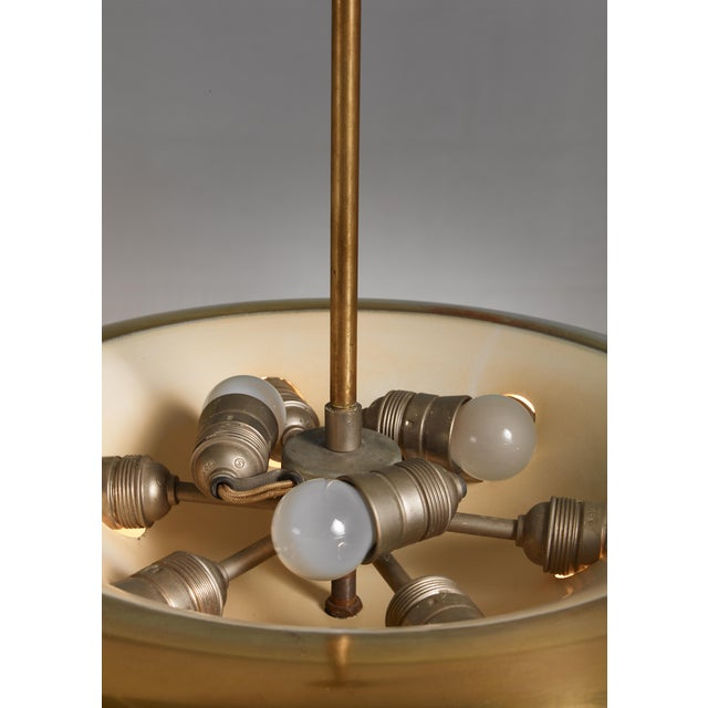 Mid-Century Modern Large Brass Pendant, Sweden, 1930s For Sale - Image 3 of 4